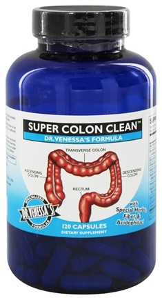 DROPPED: Dr. Venessa's Formulas - Super Colon Clean - 120 Capsules