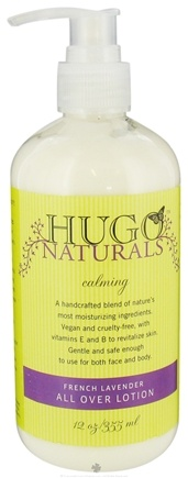 DROPPED: Hugo Naturals - All Over Lotion Calming French Lavender - 12 oz.