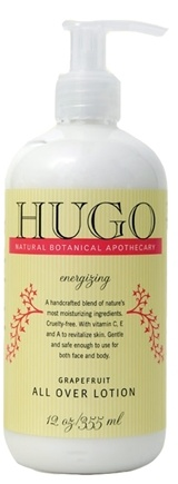 DROPPED: Hugo Naturals - All Over Lotion Energizing Grapefruit - 12 oz.