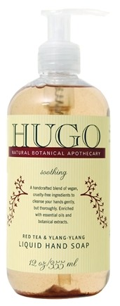 DROPPED: Hugo Naturals - Liquid Hand Soap Soothing Red Tea & Ylang-Ylang - 12 oz. CLEARANCE PRICED