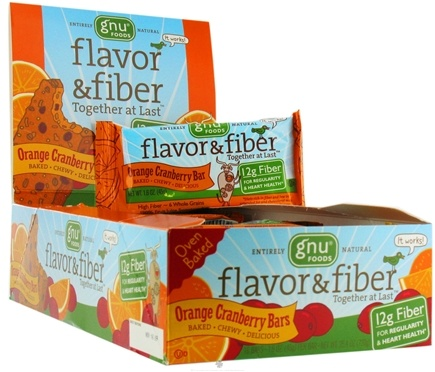 DROPPED: Gnu Foods - Flavor & Fiber Bar Orange Cranberry - 1.6 oz.