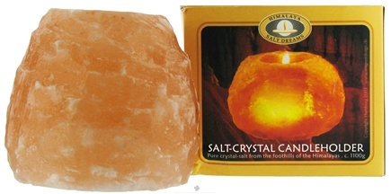 DROPPED: Aloha Bay - Himalaya Salt Dreams Salt-Crystal Candle Holder - 2.5 lbs. CLEARANCE PRICED