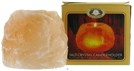 DROPPED: Himalayan Salt - Dreams Salt Crystal Candle Holder by Aloha Bay - 1.5 lbs. CLEARANCE PRICED