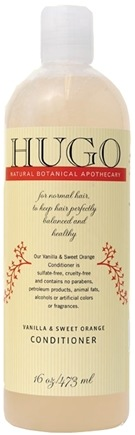 DROPPED: Hugo Naturals - Conditioner For Normal Hair Vanilla & Sweet Orange - 16 oz.