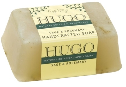 DROPPED: Hugo Naturals - Handcrafted Bar Soap Sage & Rosemary - 6 oz. CLEARANCE PRICED