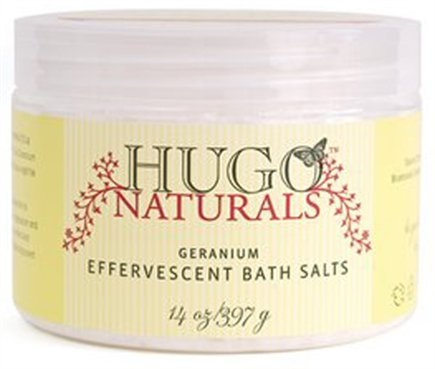 DROPPED: Hugo Naturals - Effervescent Bath Salts Balancing Geranium - 14 oz. CLEARANCE PRICED