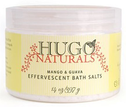 DROPPED: Hugo Naturals - Effervescent Bath Salts Mango & Guava - 14 oz. CLEARANCE PRICED