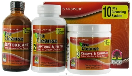 DROPPED: Nature's Answer - Tru Cleanse 10 Day Cleansing System 3 Step Process - CLEARANCE PRICED