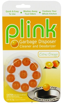 Zoom View - Plink Garbage Disposal Cleaner and Deodorizer Citrus Orange