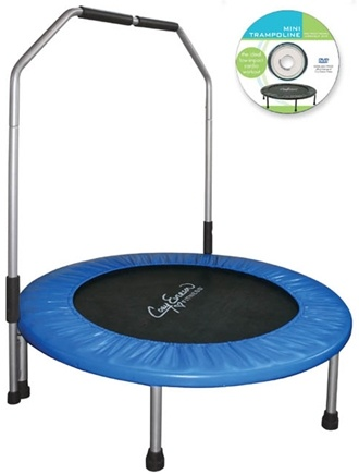 "Zoom View - Cory Everson 40"" Jogging Trampoline with handle"