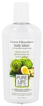 DROPPED: Pure Life Soap Co. - Body Lotion Coconut & Guanabana - 15 oz.