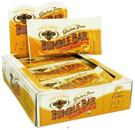 DROPPED: Bumble Bar - Organic Sesame Bar Gluten Free Classic Cashew - 1.4 oz. Formerly Organic Energy Bar