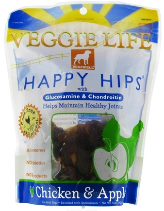 DROPPED: Dogswell - Veggie Life Happy Hips With Glucosamine & Chondroitin Chicken & Apple - 5 oz. CLEARANCE PRICED