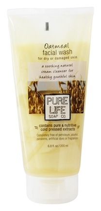 DROPPED: Pure Life Soap Co. - Oatmeal Facial Wash For Damaged Or Aged Skin - 6.8 oz.