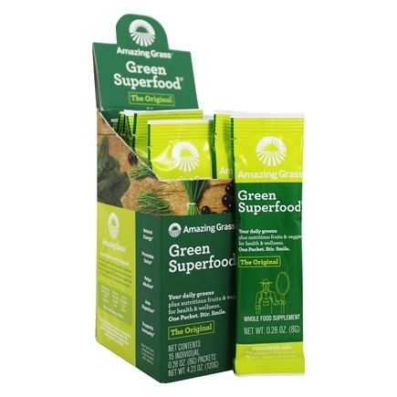 Zoom View - Green SuperFood All Natural Drink Powder Packets