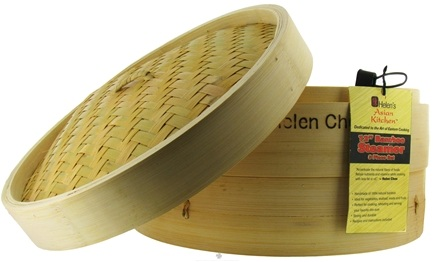 DROPPED: Helen's Asian Kitchen - Bamboo Steamer 12 inch - CLEARANCE PRICED