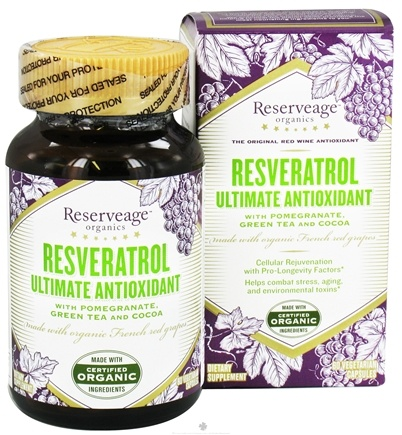 DROPPED: Reserveage Nutrition - Ultimate Antioxidant - 60 Vegetarian Capsules CLEARANCED PRICED