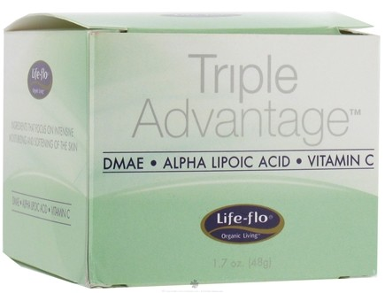 DROPPED: Life-Flo - Triple Advantage DMAE, Alpha Lipoic Acid, Vitamin C Moisturizing Cream - 1.7 oz. CLEARANCE PRICED