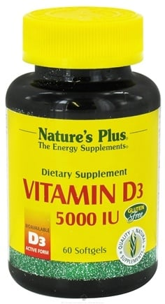 DROPPED: Nature's Plus - Vitamin D3 5000 IU - 60 Softgels CLEARANCE PRICED