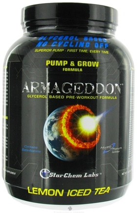 DROPPED: StarChem Labs - Armageddon Glycerol Based Pre-Workout Formula Lemon Ice Tea - 2.02 lbs. CLEARANCE PRICED