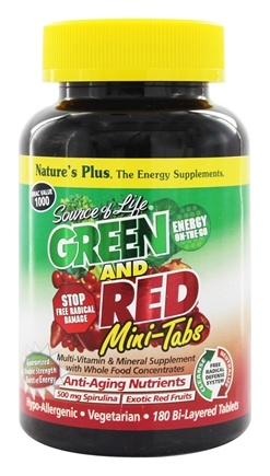 Zoom View - Source Of Life Green And Red Mini-Tabs With Anti-Aging Nutrients