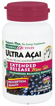 DROPPED: Nature's Plus - Herbal Actives Ultra Acai Extended Release Mini-Tabs 1200 mg. - 60 Tablets