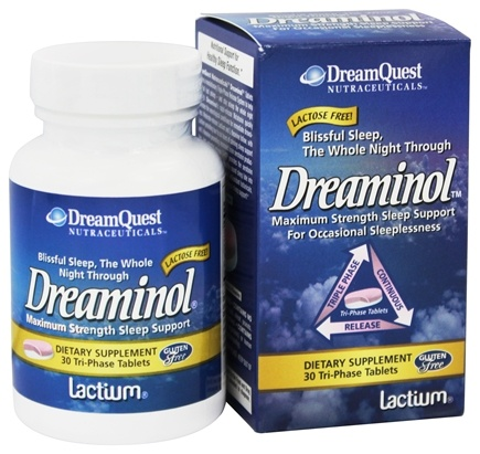 Dream Quest Nutraceuticals - Dreaminol Maximum Strength Sleep Support - 30 Tablets