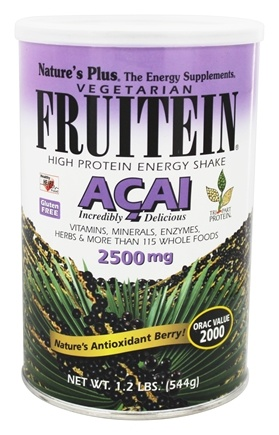 DROPPED: Nature's Plus - Vegetarian Fruitein Acai High Protein Energy Shake 2500 mg. - 1.2 lbs.