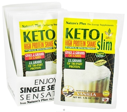 DROPPED: Nature's Plus - KetoSlim High Protein Shake Vanilla - 1 Packet CLEARANCE PRICED