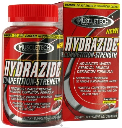 DROPPED: Muscletech Products - Hydrazide Competition Strength Water Removal Formula - 60 Capsules