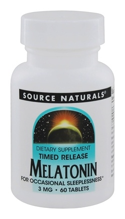 Source Naturals - Melatonin Timed Release 3 mg. - 60 Tablets