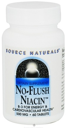 DROPPED: Source Naturals - No-Flush Niacin 500 mg. - 60 Tablets