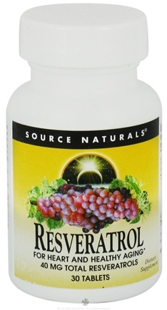 DROPPED: Source Naturals - Resveratrol 40 mg. - 30 Tablets CLEARANCE PRICED