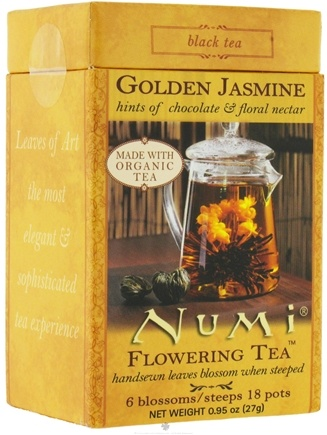 DROPPED: Numi Organic - Flowering Tea Golden Jasmine - CLEARANCE PRICED