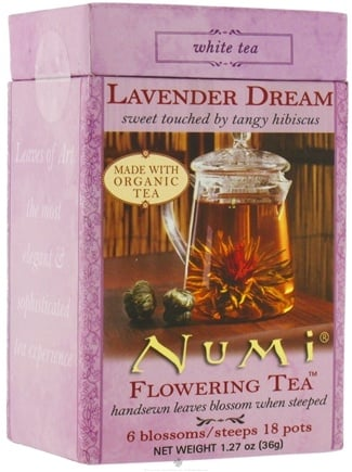 DROPPED: Numi Organic - Flowering Tea Lavender Dream White Tea- 6 Blossoms - CLEARANCE PRICED