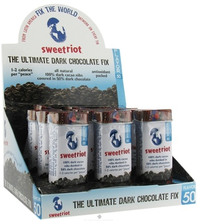 DROPPED: Sweetriot - Cacao Nibs Covered With 50% Dark Chocolate - 1 oz. CLEARANCE PRICED