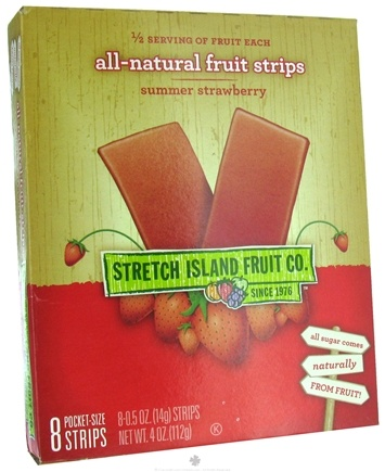 DROPPED: Stretch Island Fruit - Original Fruit Leather 8 x .5 oz. Summer Strawberry