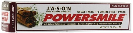 DROPPED: Jason Natural Products - PowerSmile Toothpaste Cinnamon Mint - 1 oz. CLEARANCE PRICED