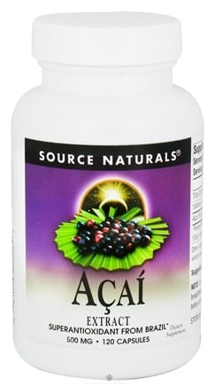 DROPPED: Source Naturals - Acai Extract Superantioxidant From Brazil 500 mg. - 120 Capsules
