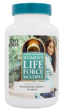 Source Naturals - Life Force Women's Multiple Rejuvenating Energy No Iron - 90 Tablets