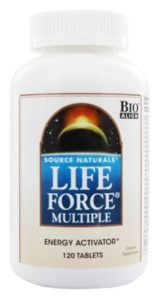 DROPPED: Source Naturals - Life Force Multiple Energy Activator - 120 Tablets