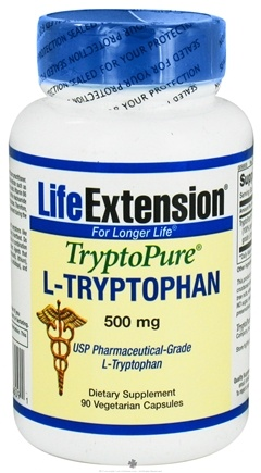 DROPPED: Life Extension - TryptoPure L-Tryptophan 500 mg. - 90 Vegetarian Capsules