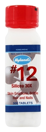 Hylands - Cell Salts #12 Silicea 30 X - 500 Tablets