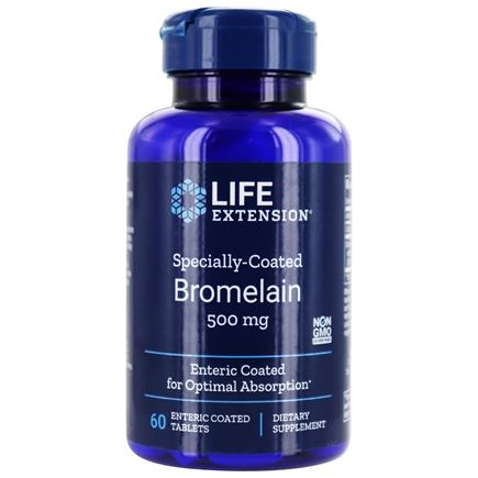 Life Extension - Specially Coated Bromelain 500 mg. - 60 Enteric-Coated Tablets