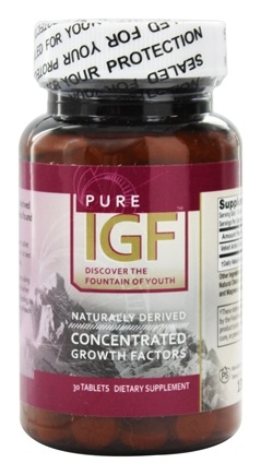 Pure Solutions - Pure IGF Concentrated Growth Factors Deer Velvet Antler Extract 6 mg. - 30 Tablets