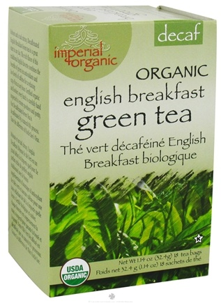 DROPPED: Uncle Lee's Tea - Imperial Organic English Breakfast Green Tea Decaf - 18 Tea Bags
