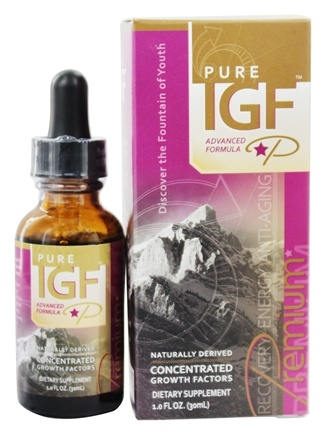 Pure Solutions - Pure IGF Premium Concentrated Growth Factors Deer Velvet Antler Extract 11 mg. - 1 oz.