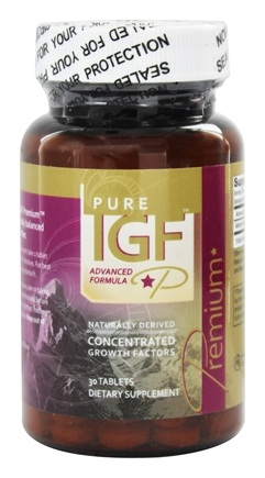 Pure Solutions - Pure IGF Premium Concentrated Growth Factors Deer Velvet Antler Extract 12.5 mg. - 30 Tablets