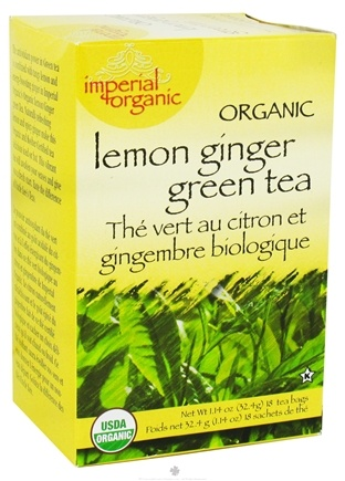 DROPPED: Uncle Lee's Tea - Imperial Organic Lemon Ginger Green Tea - 18 Tea Bags
