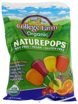 DROPPED: College Farm Organic - Naturepops 18 Assorted Flavors - 5.1 oz.